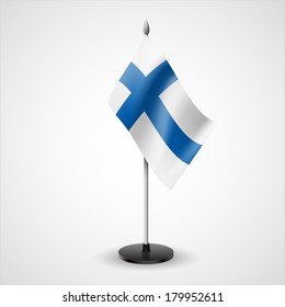 State table flag of Finland. National symbol