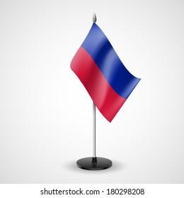 State table flag of Haiti. National symbol