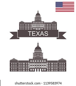 State of Texas. Texas State Capitol Building in Austin. EPS 10. Vector illustration