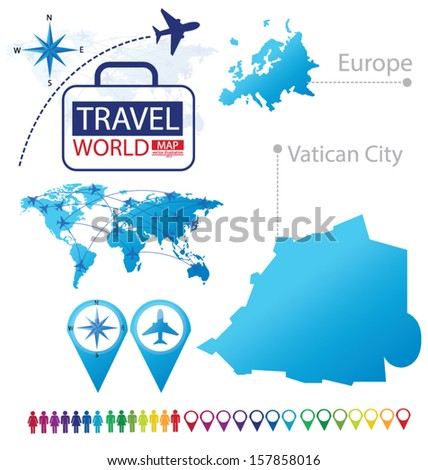 Vatican City On World Map.State Vatican City Europe World Map Stock Vector Royalty Free