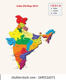 States capital and cities in India. popular cities in India. Indian states name. Indian cities name. India old map with States 2020.