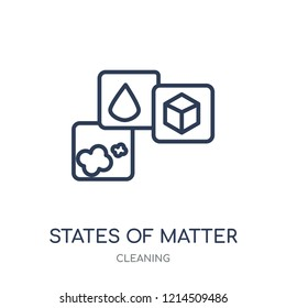 States of Matter icon. States of Matter linear symbol design from Cleaning collection. Simple outline element vector illustration on white background.