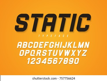 Static vector decorative bold italic font design, alphabet, typeface, typography.