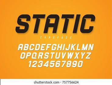 Static vector decorative bold italic font design, alphabet, typeface, typography.