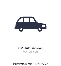 station wagon icon on white background. Simple element illustration from Transport concept. station wagon sign icon symbol design.