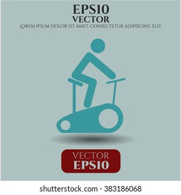 Stationary bike vector icon or symbol