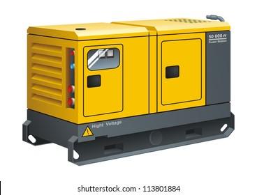 Stationary Diesel Generator vector