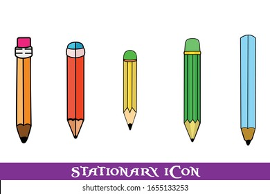 Stationary Icon Vector Item Bundle