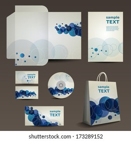 Stationery, Corporate Image Design with Vivid Colors