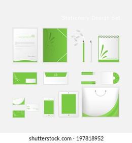 Stationery design set in vector format