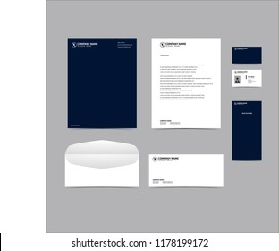 Stationery Editable Corporate identity template design. Business set branding eps 10
