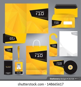 Stationery set design / Stationery template / Corporate identity design vector.
