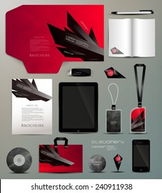 Stationery set design-geometric design