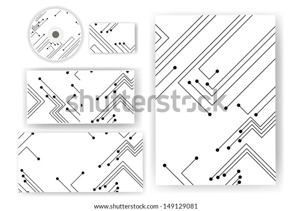 side vector circboard wiring diagram stationery set your design circuit board stock vector  royalty  design circuit board stock vector