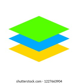 stationery stacked papers icon. vector COLORED paper documents illustration