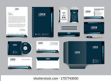 Stationery template design. corporate identity business set eps,10