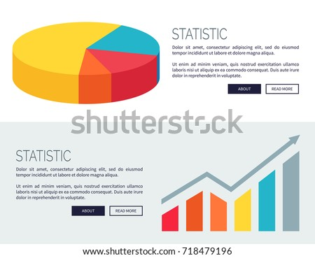 Statistic Demonstration Colorful Pie Chart Bar Stock Vector Royalty