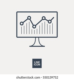 statistic isolated minimal icon. diagram graph line vector icon for websites and mobile minimalistic flat design.