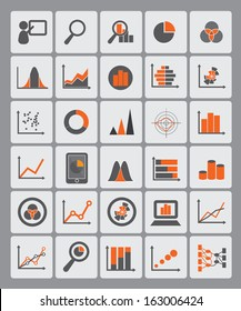 statistical diagrams used for info graphic icons, data presentation, data visualization, website images, information ornaments, and other illustrations