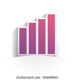 statistics icon paper style full vector