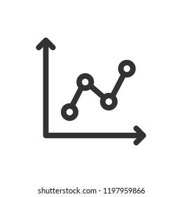 Statistics infographic vector icon