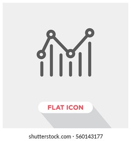 statistics vector icon, chart symbol. Modern, simple flat vector illustration for web site or mobile app
