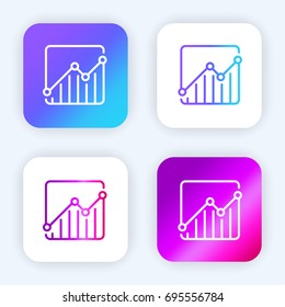Stats bright purple and blue gradient app icon