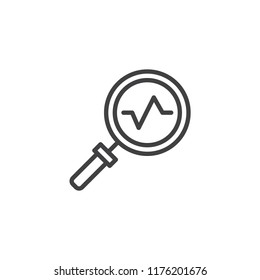 Stats View outline icon. linear style sign for mobile concept and web design. Explore Stats simple line vector icon. Symbol, logo illustration. Pixel perfect vector graphics