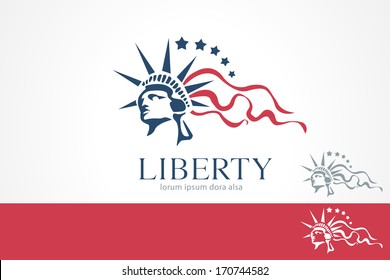 Statue of Liberty Freedom Concept Design Template. Lady. Liberty. USA. Justice. Law.