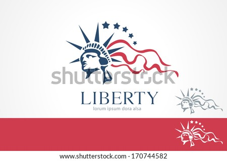 statue liberty freedom concept design template stock vector royalty