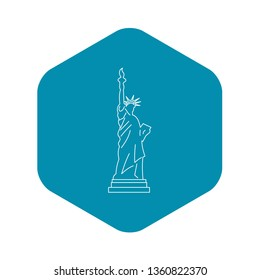 Statue of liberty icon. Outline illustration of statue of liberty vector icon for web
