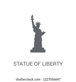 Statue of liberty icon. Trendy Statue of liberty logo concept on white background from United States of America collection. Suitable for use on web apps, mobile apps and print media.