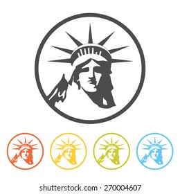 Statue of Liberty icon, vector. Pictogram, symbol of New York.