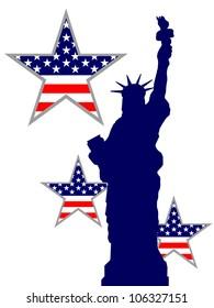 statue of liberty - independenceday - vector