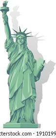 Statue of liberty New York City Manhattan vector graphic