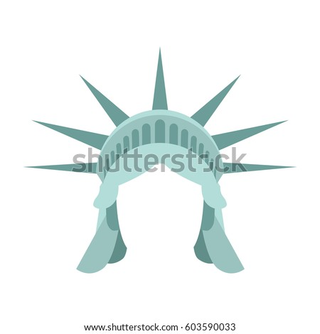 statue liberty template face head mock stock vector royalty free
