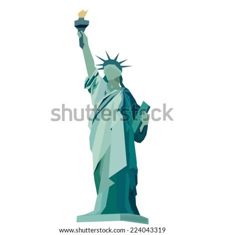 statue liberty vector stock vector royalty free 224043319 rh shutterstock com statue of liberty vector art statue of liberty vector silhouette