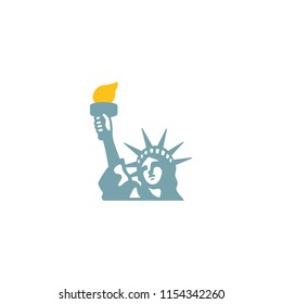 Statue of Liberty Vector Flat Icon