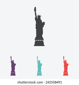 Statue Of Liberty vector icon