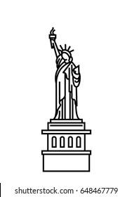 Statue Of Liberty vector icon