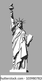 The Statue of Liberty. Vector illustration.