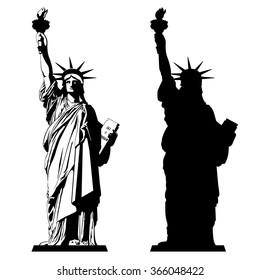 estatua de la libertad vector free