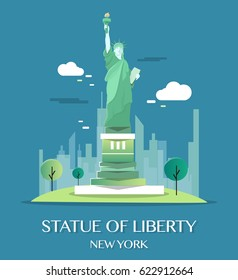 Statue Of Liberty.Vector Illustration.