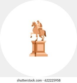 Statue of Marcus Aurelius on horse icon