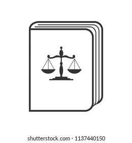 Statute book  icon vector. Law enforcement and criminal justice symbol.