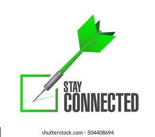 stay connected check dart sign illustration design graphic