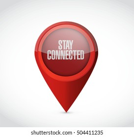 stay connected pointer sign illustration design graphic