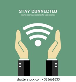 Stay connected vector poster