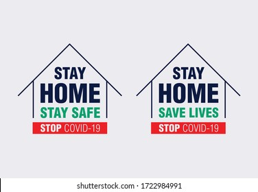 Stay home, stay safe, The concept of quarantine and stay at home.