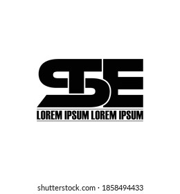 STE letter monogram logo design vector